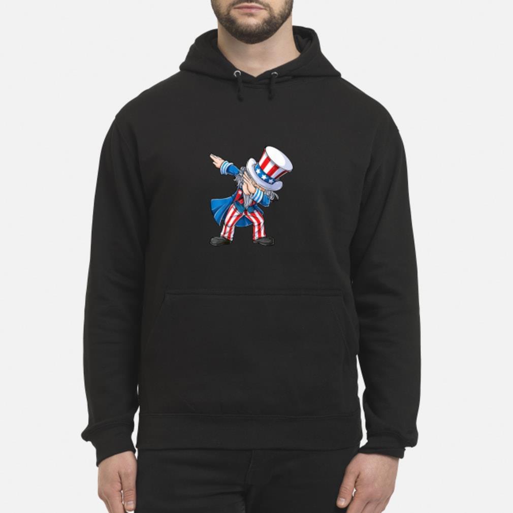 4th of July Shirts for Kids Dabbing Uncle Sam Boys Shirt hoodie