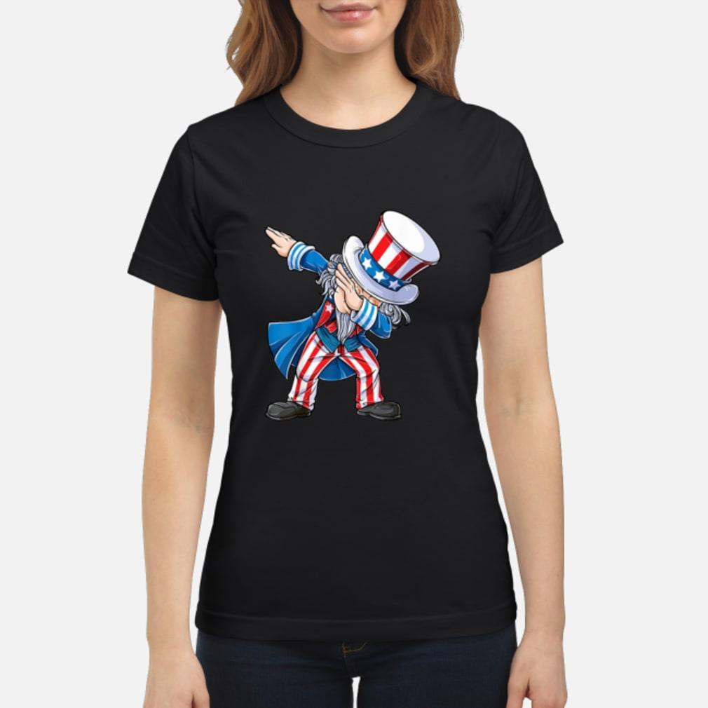 4th of July Shirts for Kids Dabbing Uncle Sam Boys Shirt ladies tee