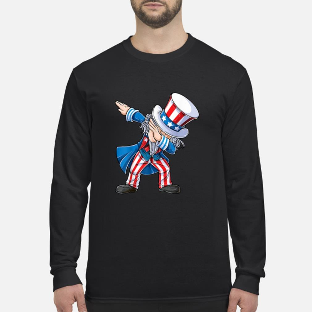 4th of July Shirts for Kids Dabbing Uncle Sam Boys Shirt Long sleeved