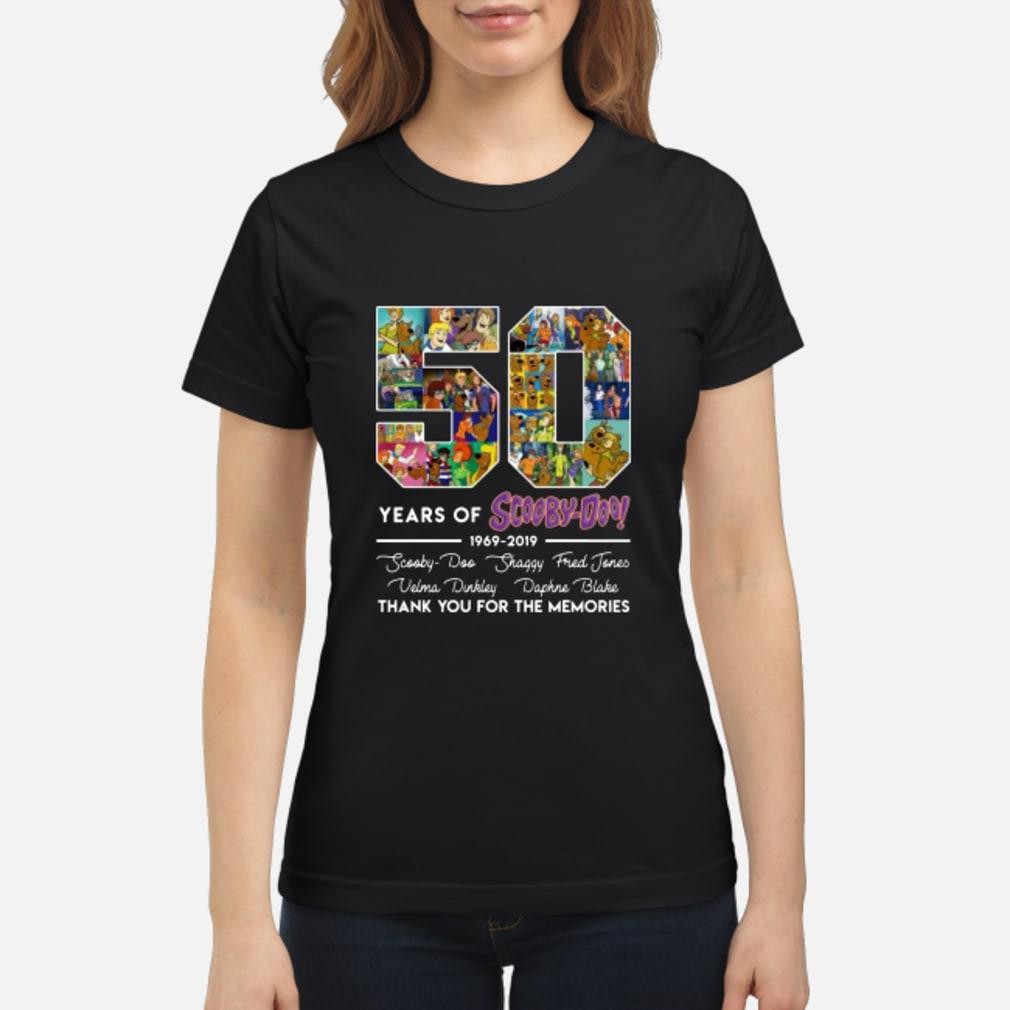 50 Years Of Scooby Doo Anniversary 1969-2019 Shirt ladies tee