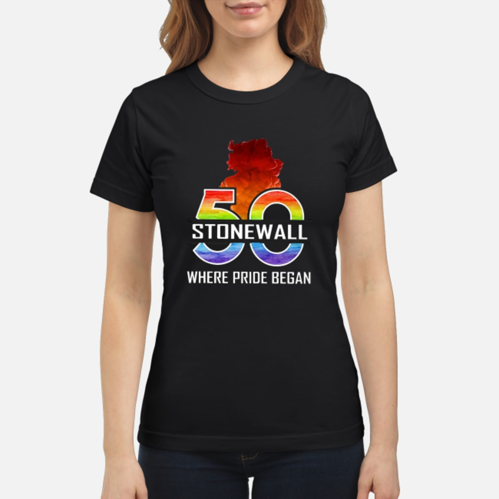 50 stonewall where pride began shirt ladies tee