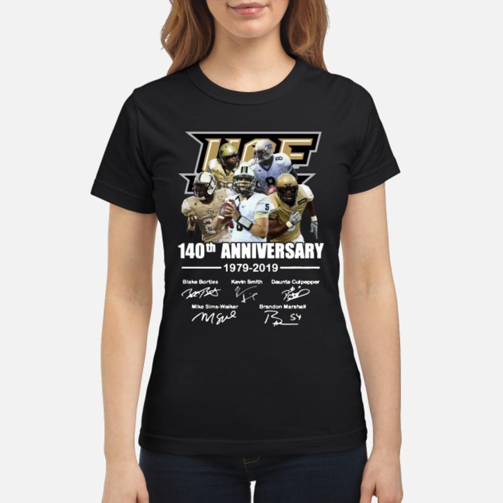 50th Ucf Anniversary Signature Shirt ladies tee