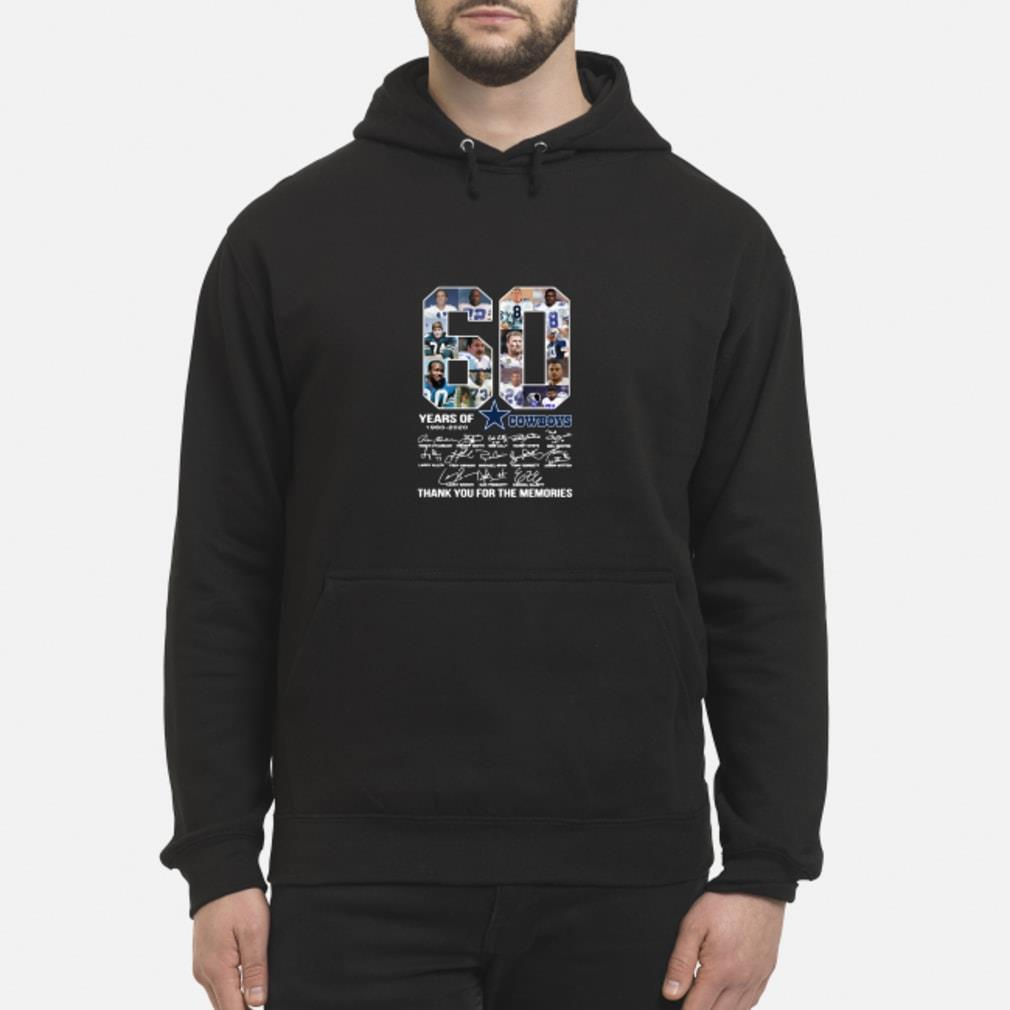 60 Years Of Dallas Cowboys 1960-2020 signatures shirt hoodie