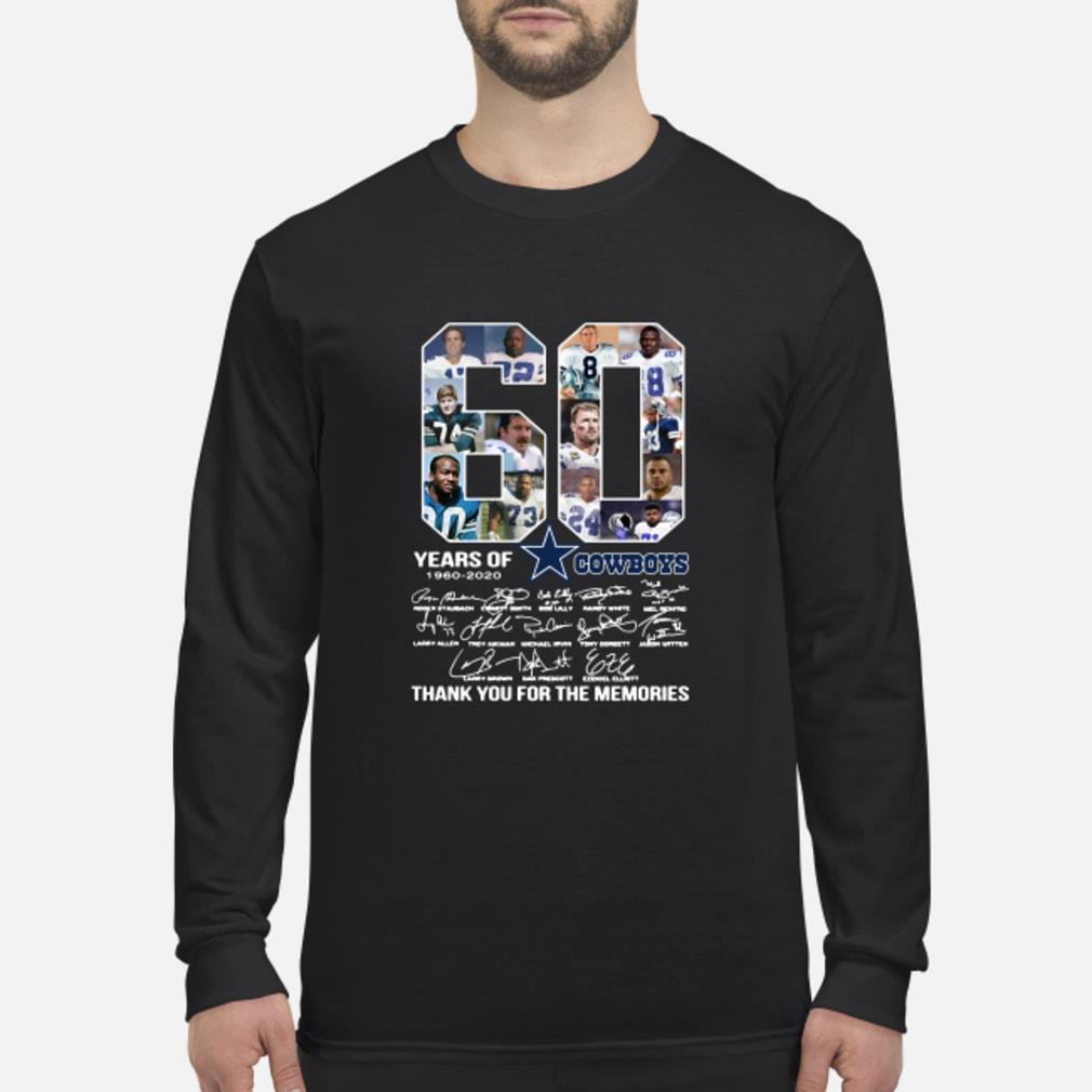 60 Years Of Dallas Cowboys 1960-2020 signatures shirt Long sleeved