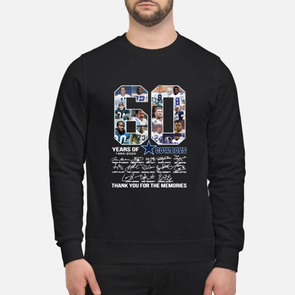 60 Years Of Dallas Cowboys 1960-2020 signatures shirt sweater
