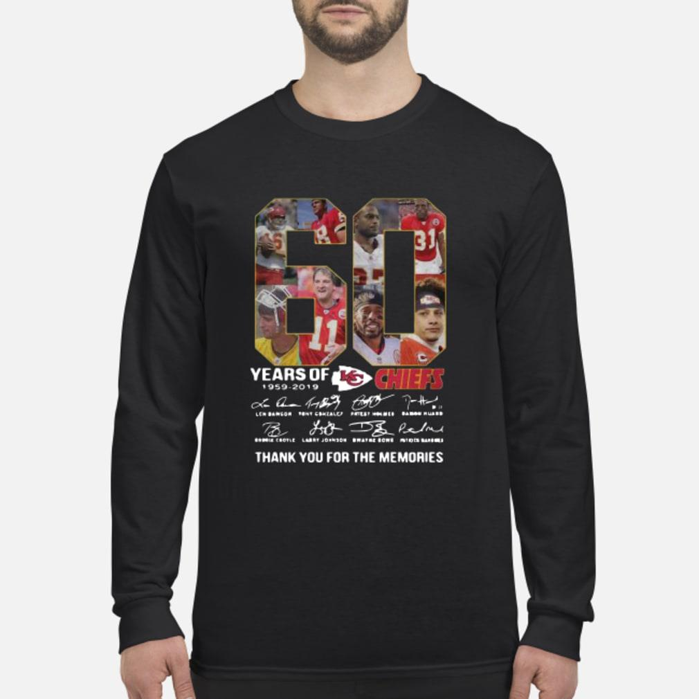 60 Years Of Kansas City Chiefs 1959 2019 Thank You For The Memories Shirt Long sleeved