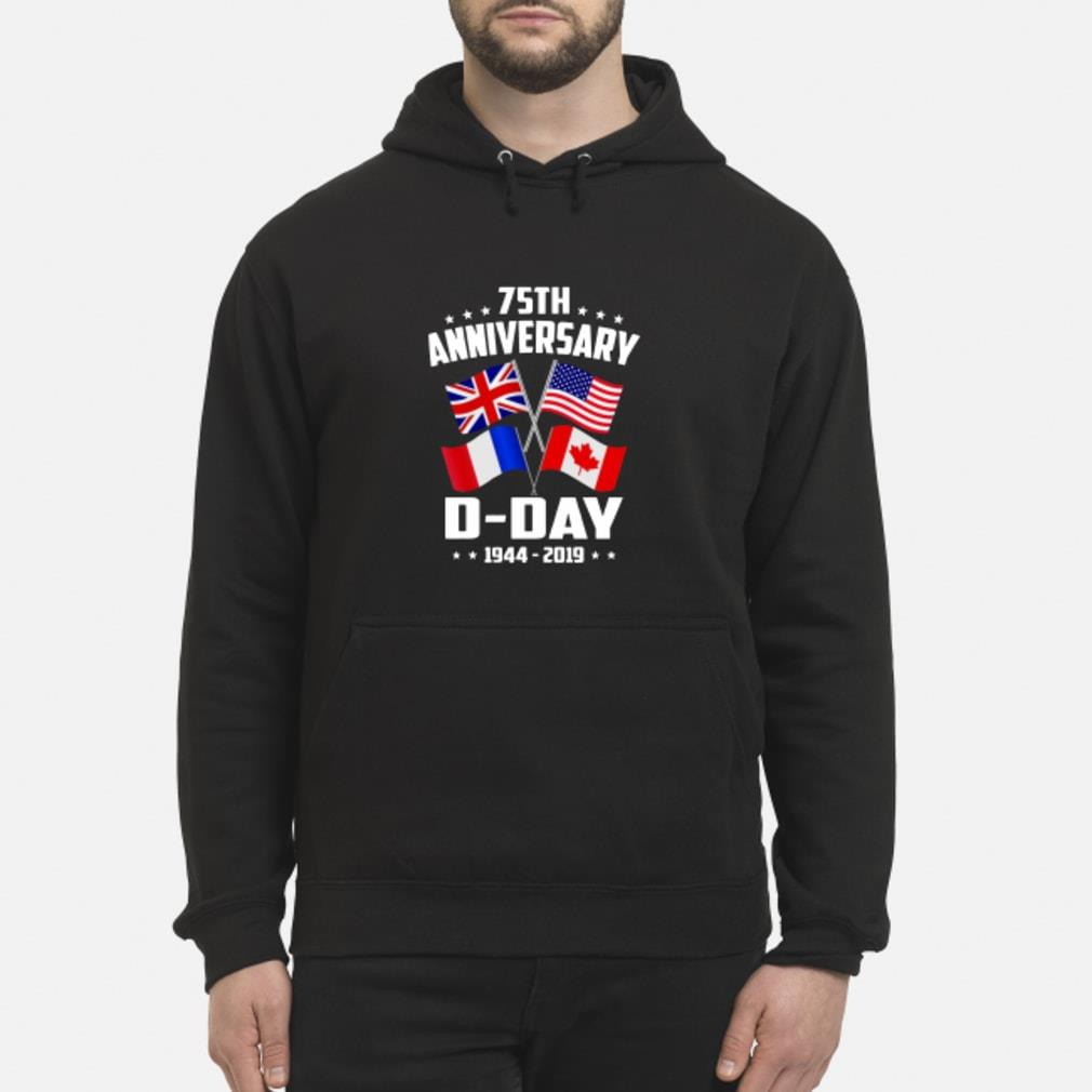 75th Anniversary D-Day 1944-2019 T-shirt hoodie