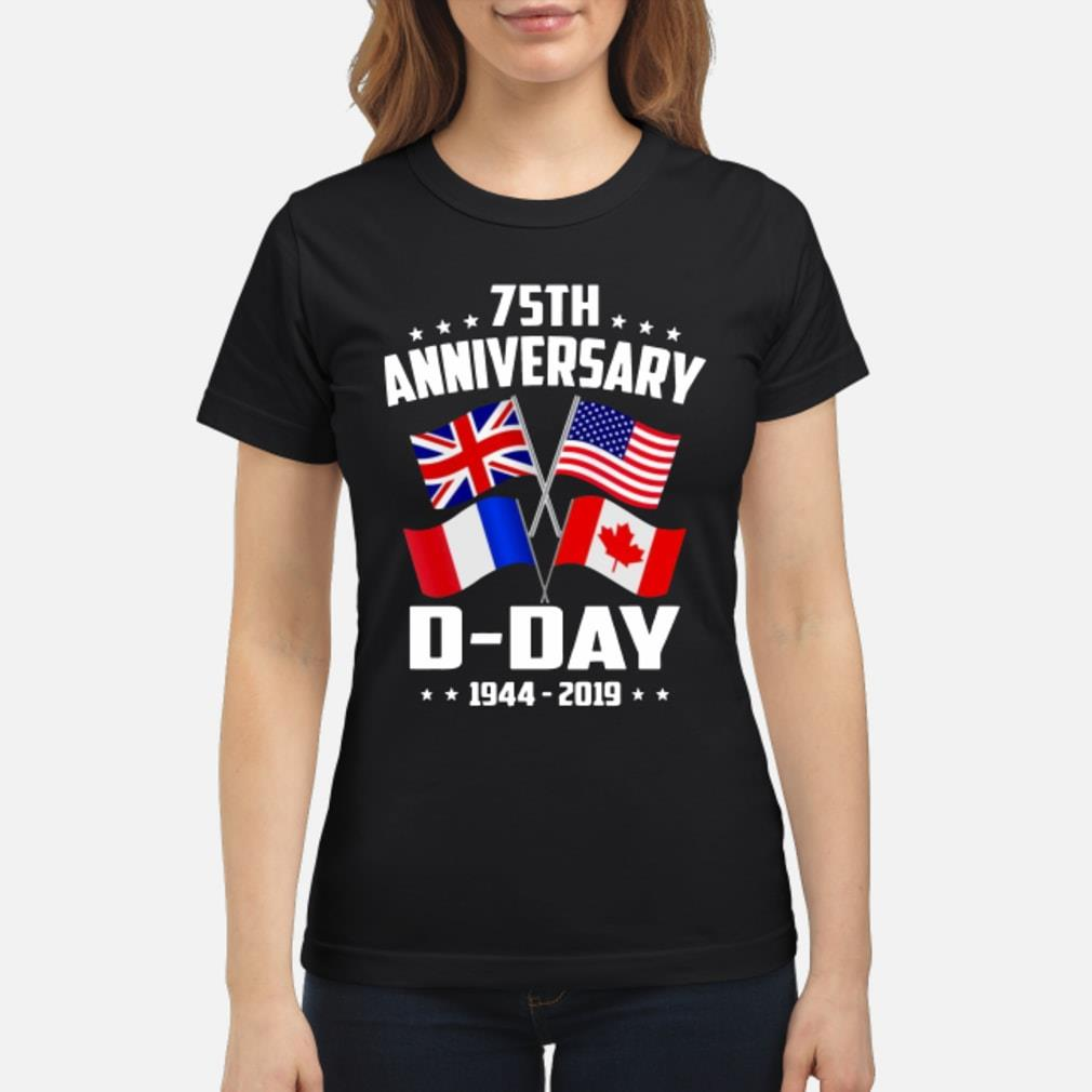 75th Anniversary D-Day 1944-2019 T-shirt ladies tee