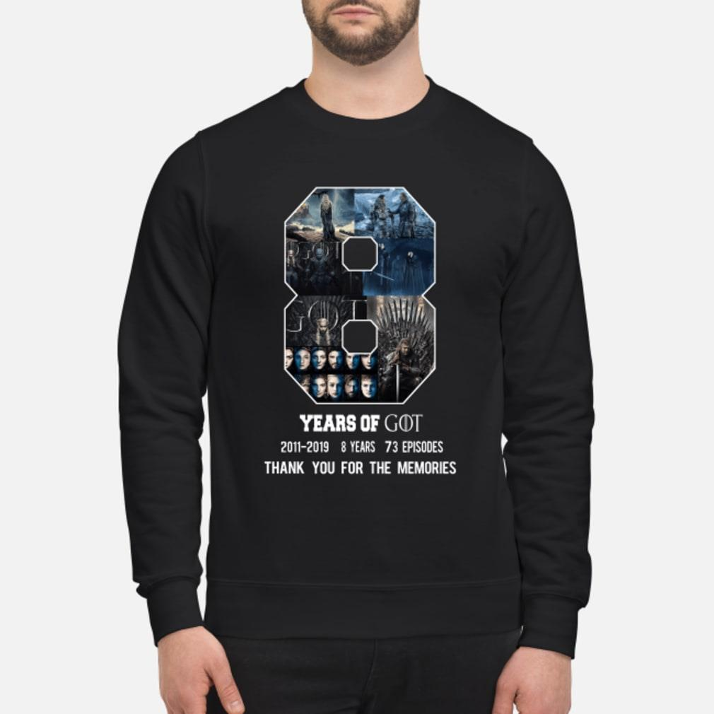 8 Year of Game Of Thrones 2011-2019 8 season thank you shirt sweater