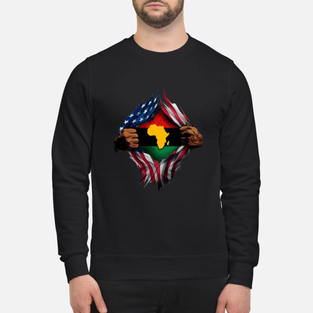 African Inside American Flag Shirt sweater