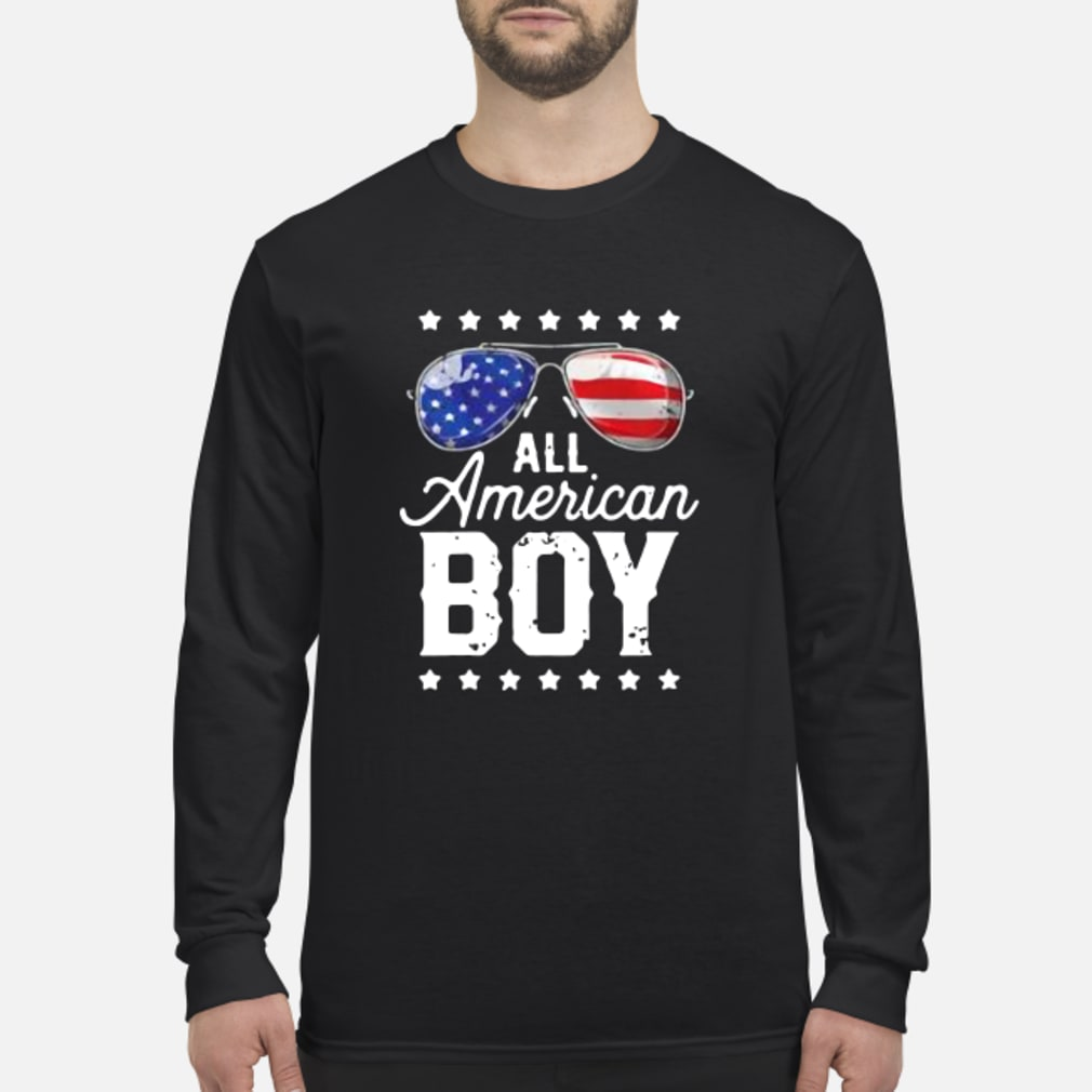 All American Boy 4th of July Shirt Long sleeved