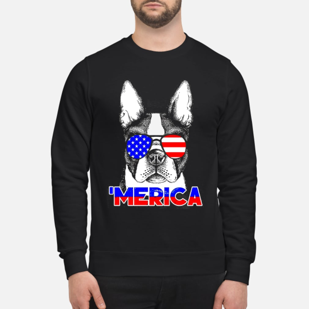 America Boston Terrier Shirt sweater