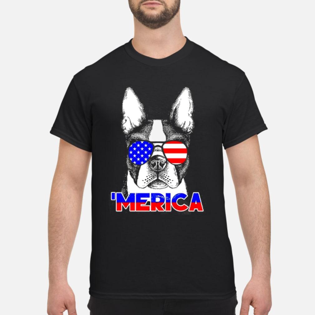 America Boston Terrier Shirt