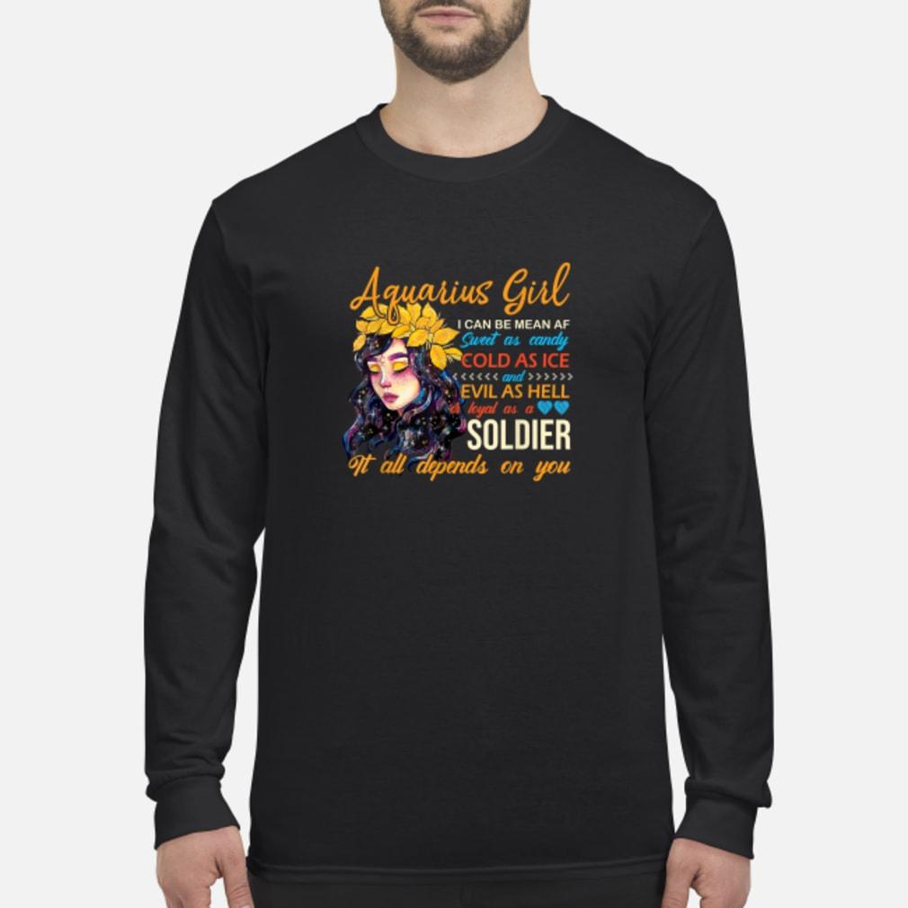 Aquarius Birthday Women Shirt Long sleeved