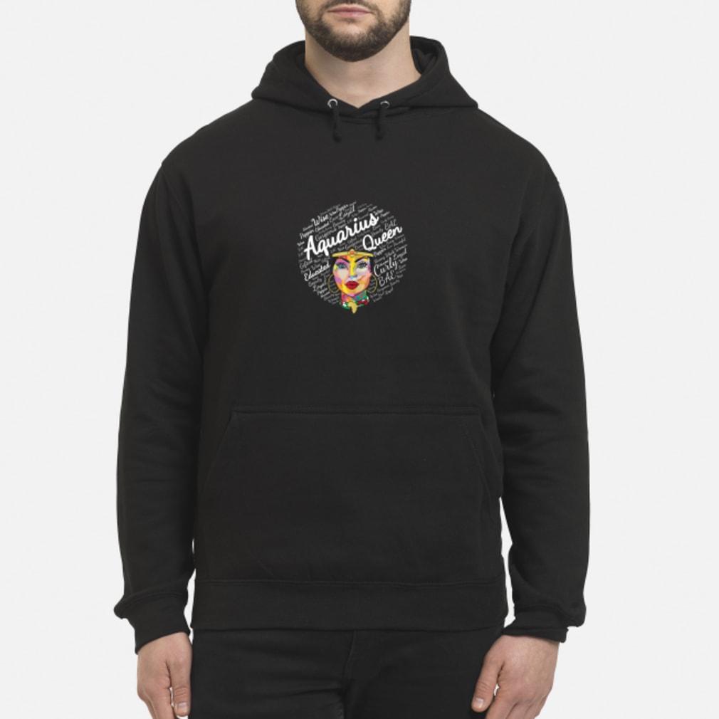 Aquarius Black Queen Black Afro Zodiac Shirt hoodie