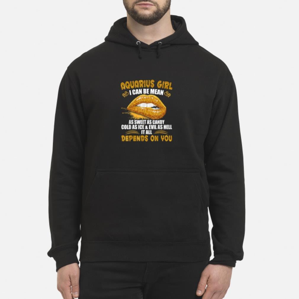 Aquarius I Can Be Mean Saying Birthday Zodia Shirt hoodie
