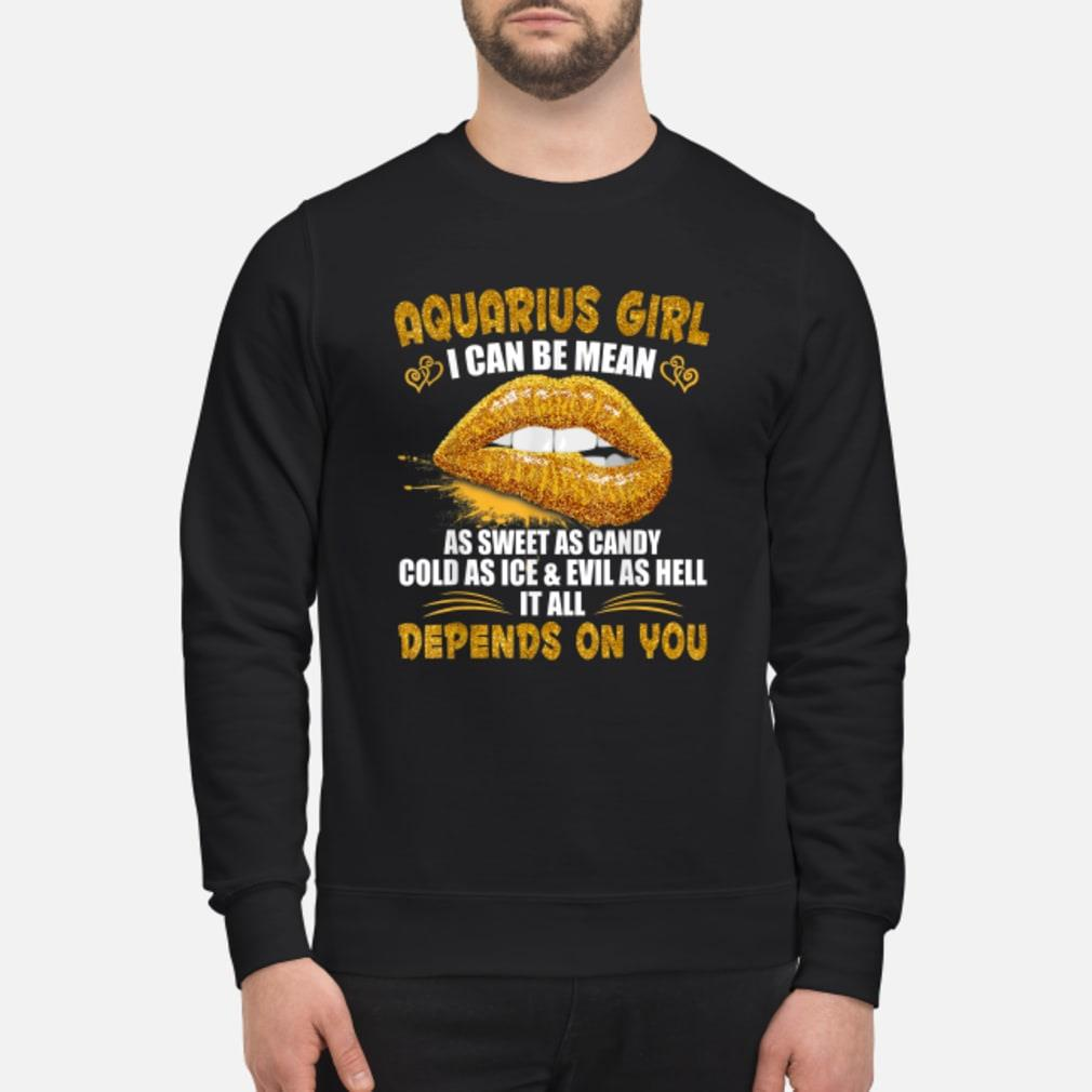 Aquarius I Can Be Mean Saying Birthday Zodia Shirt sweater