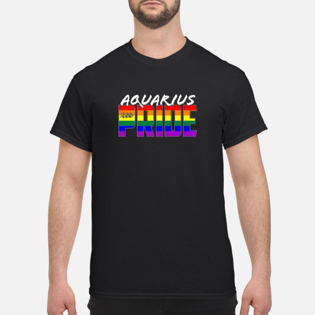Aquarius LGBT Gay Pride Flag Zodiac Sign Shirt