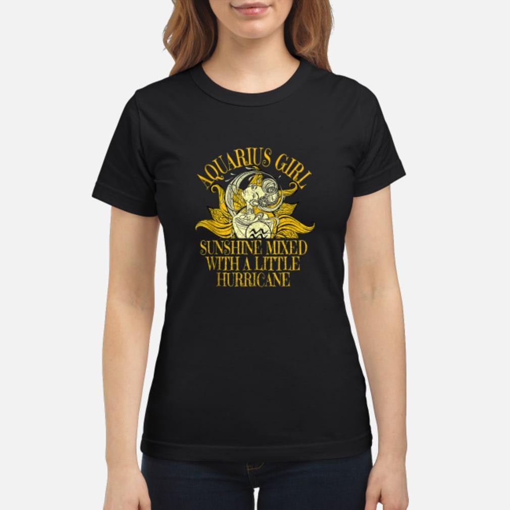 Aquarius Sunshine Hurricane January February Shirt ladies tee
