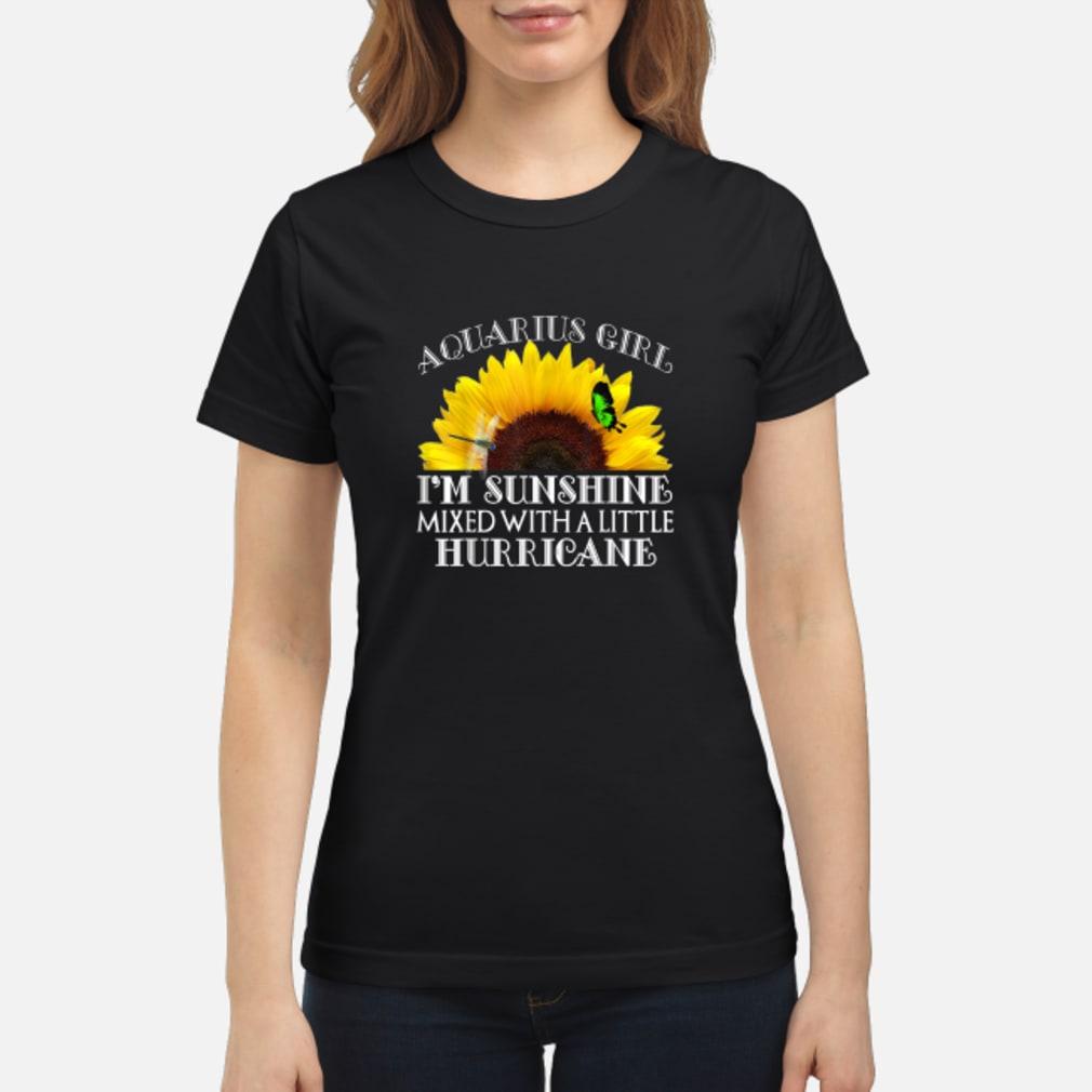 Aquarius Sunshine Hurricane Shirt ladies tee