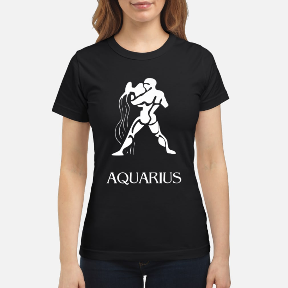 Aquarius Zodiac Sign Shirt ladies tee