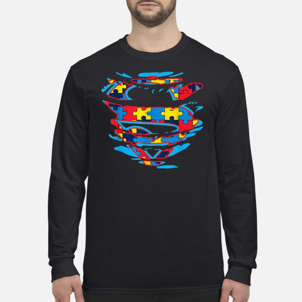 Autism Awareness Superman T-shirt Long sleeved