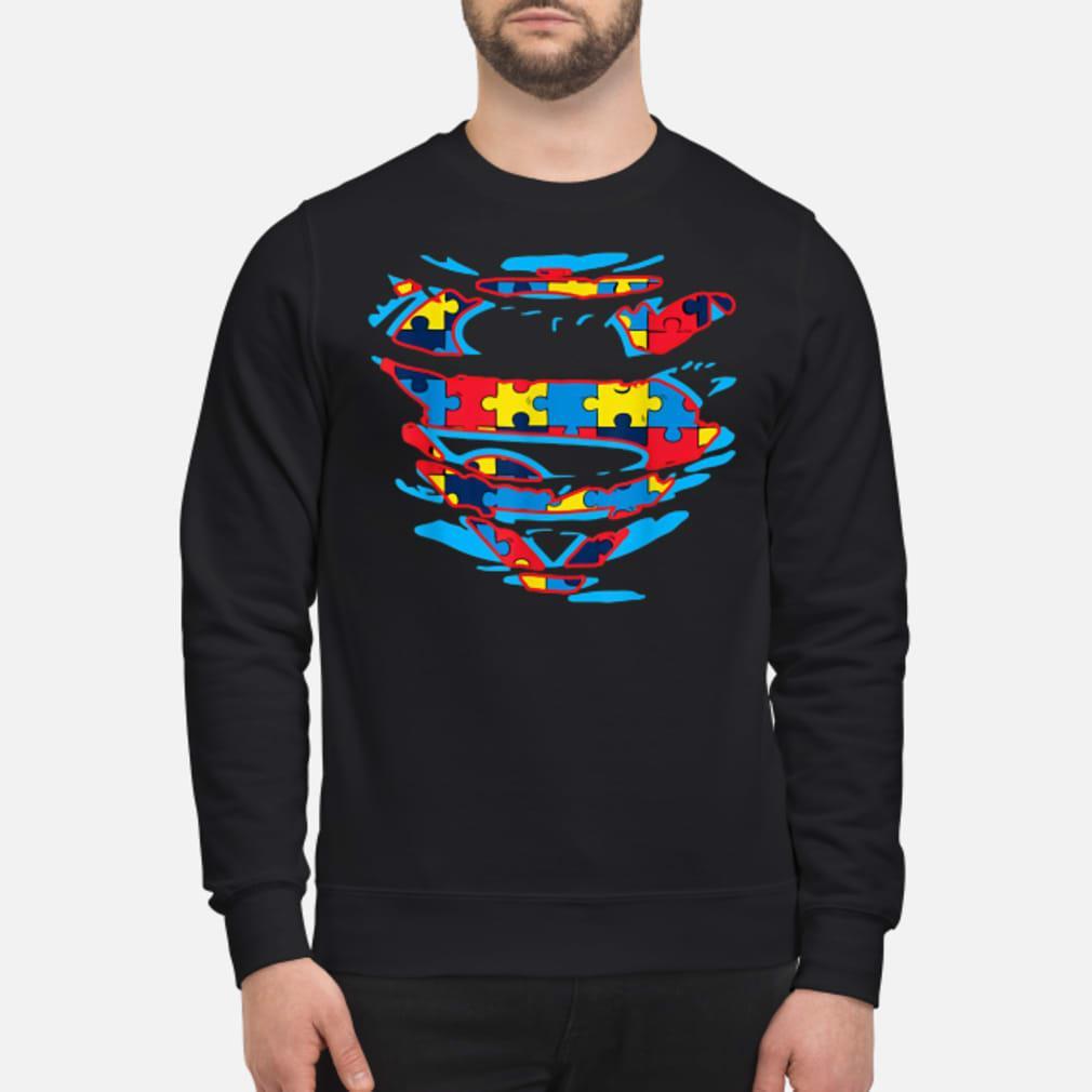 Autism Awareness Superman T-shirt sweater