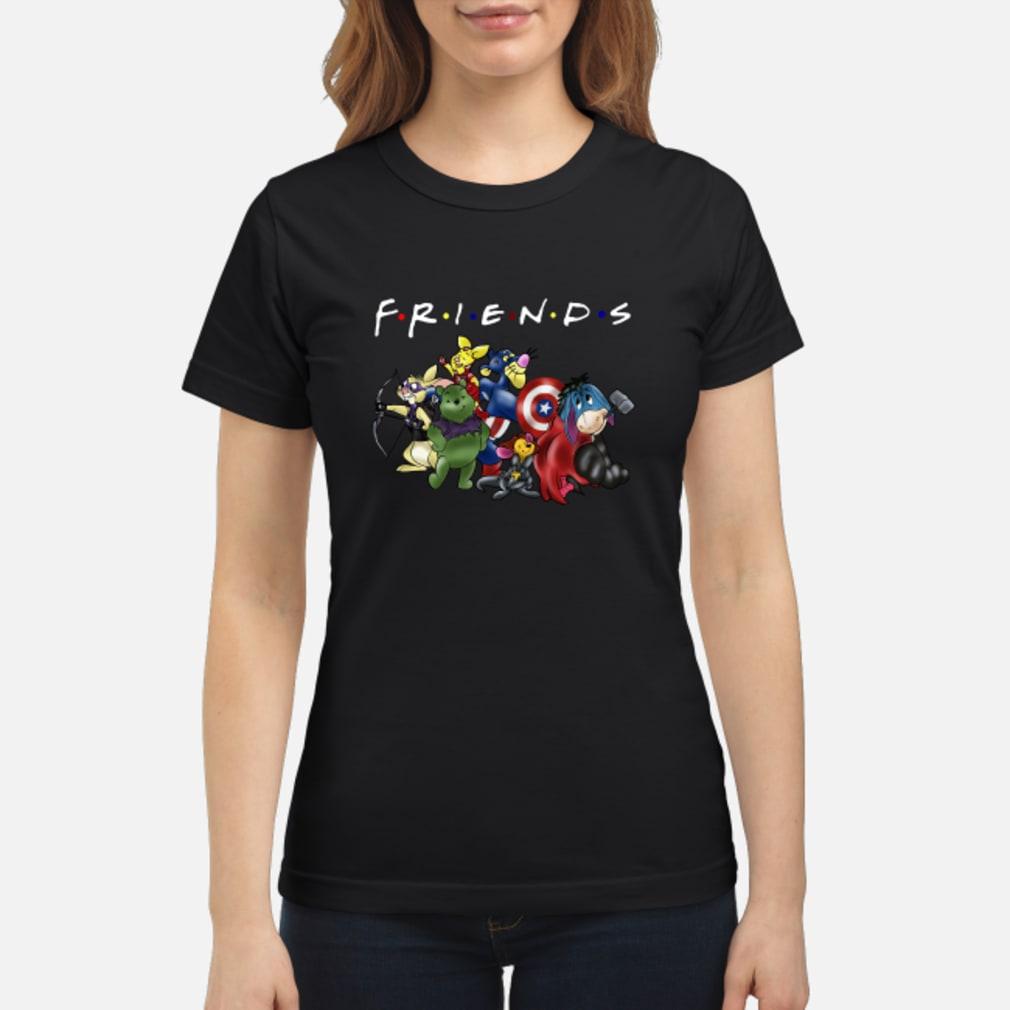 Avengers Disney cartoons friends shirt ladies tee