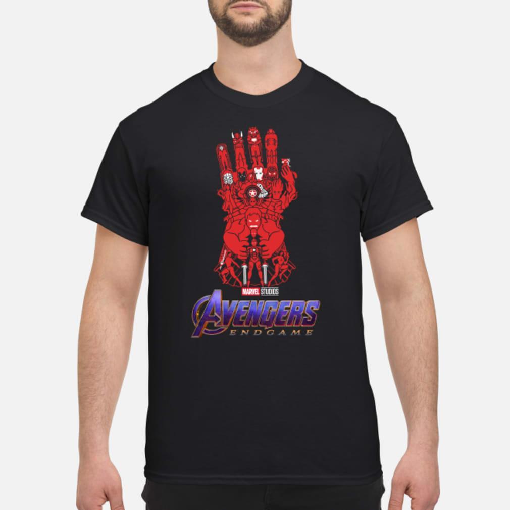 Avengers Endgame Red Infinity gauntlet shirt