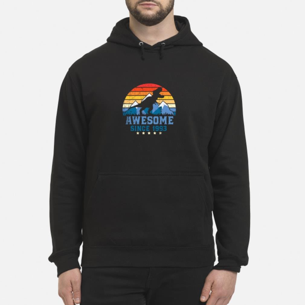 Awesome sunset mountain and dinosaurs since 1993 Shirt hoodie