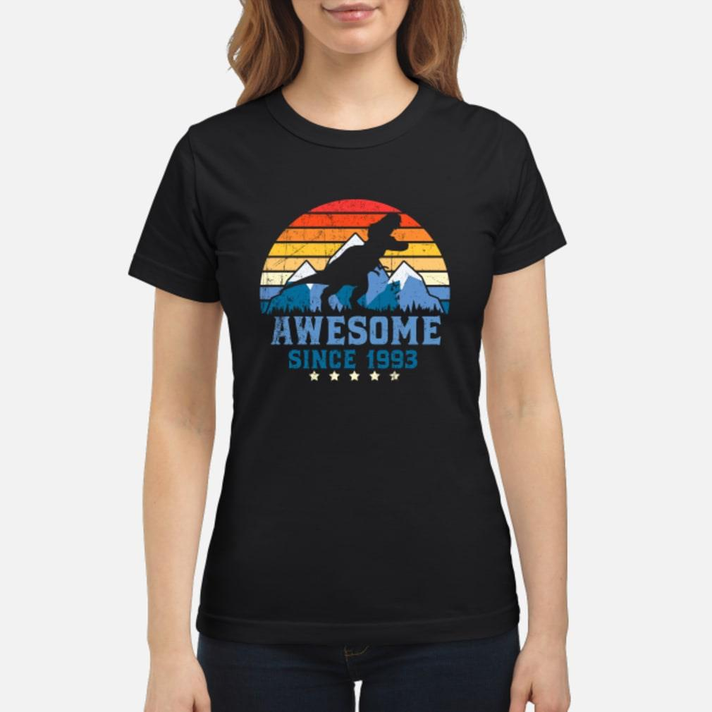 Awesome sunset mountain and dinosaurs since 1993 Shirt ladies tee
