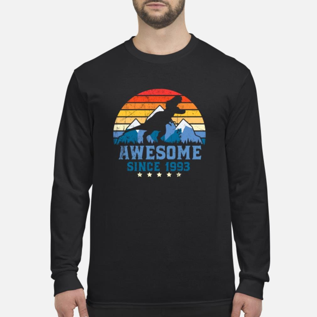 Awesome sunset mountain and dinosaurs since 1993 Shirt Long sleeved