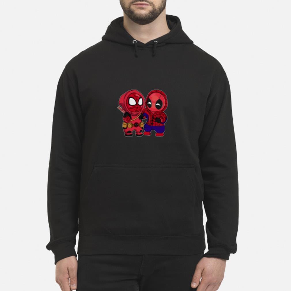Baby Chibi Spiderman And Deadpool Shirt hoodie