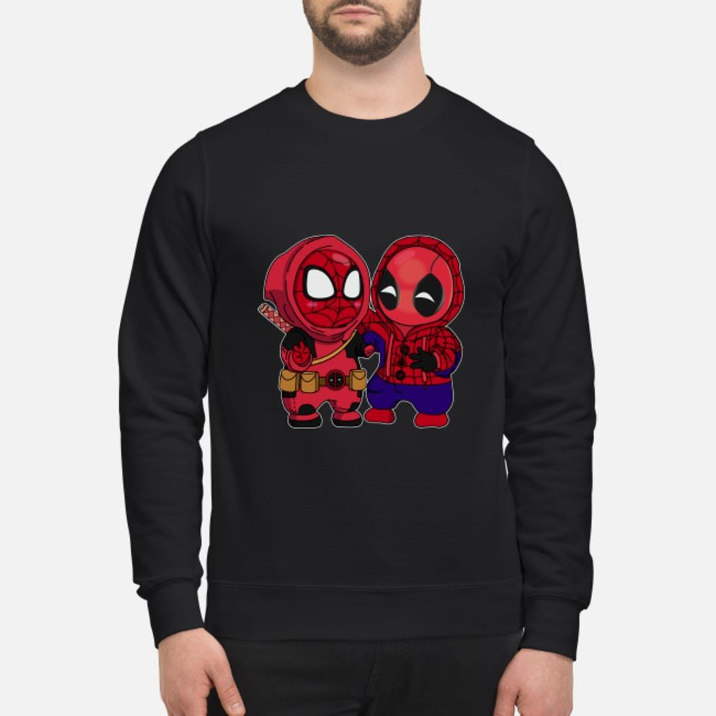 Baby Chibi Spiderman And Deadpool Shirt sweater
