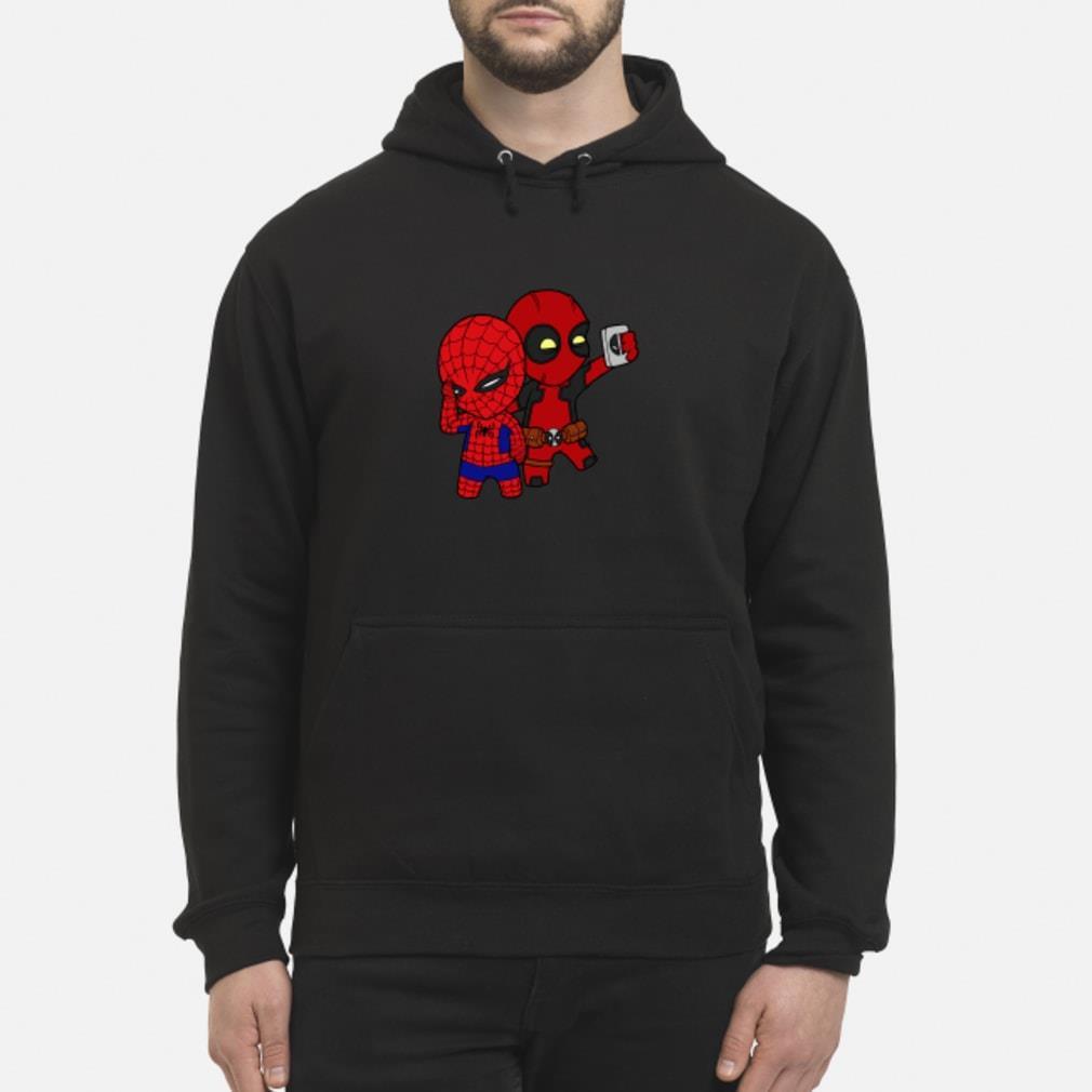 Baby Deadpool and Spiderman shirt hoodie