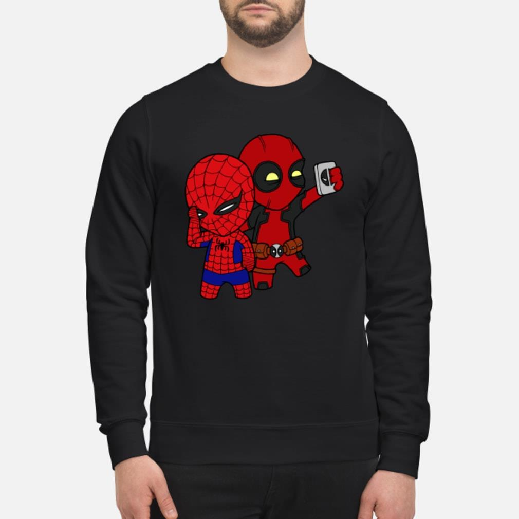 Baby Deadpool and Spiderman shirt sweater
