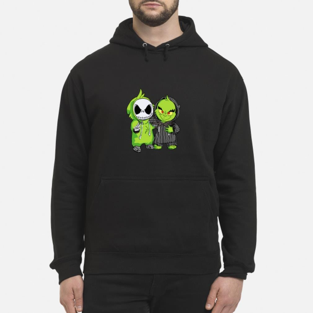 Baby Jack Skellington and Grinch Shirt hoodie
