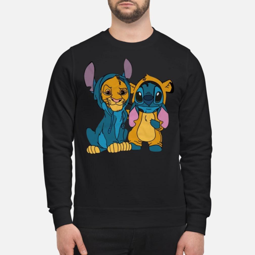 Baby simba and baby stitch best friend shirt sweater