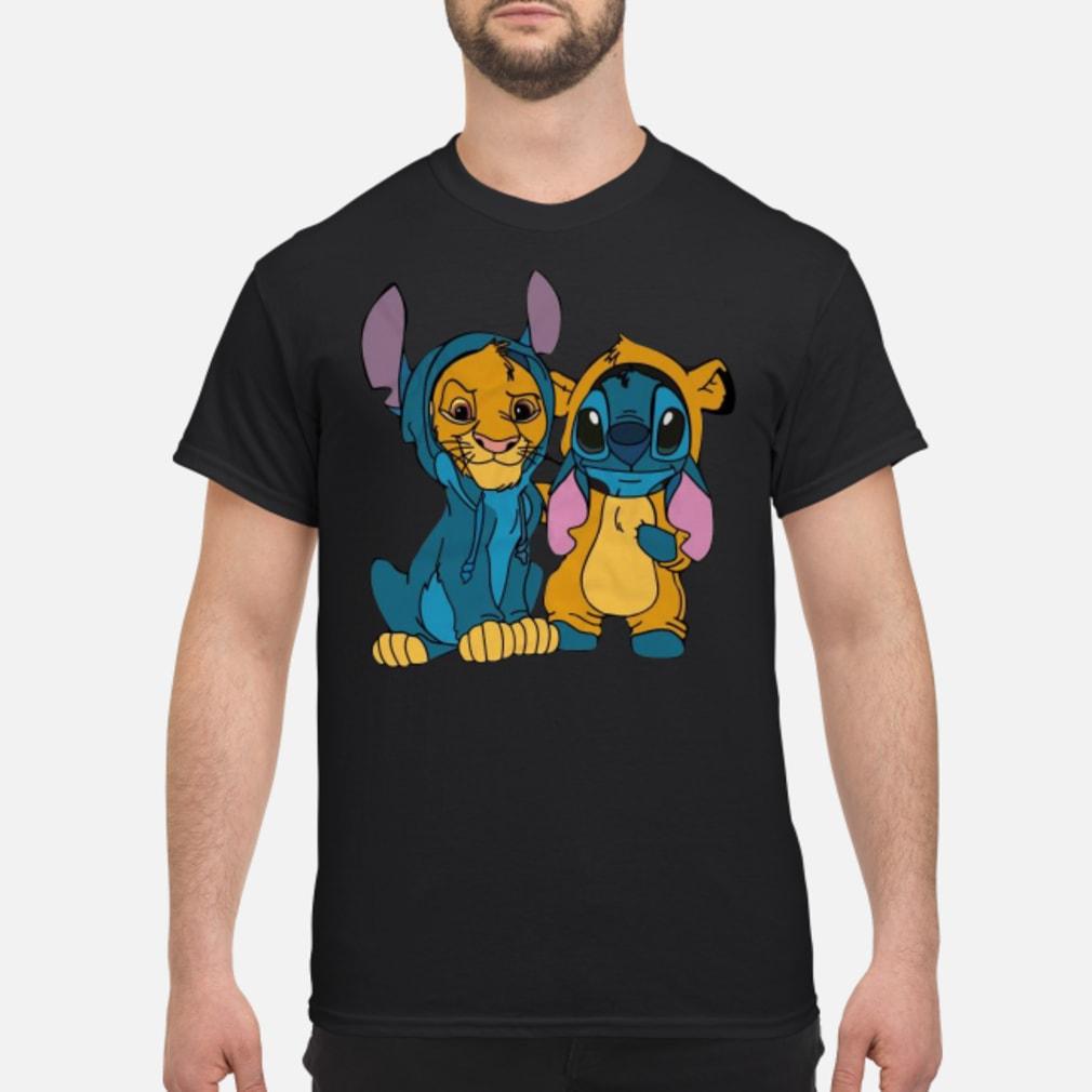 Baby simba and baby stitch best friend shirt