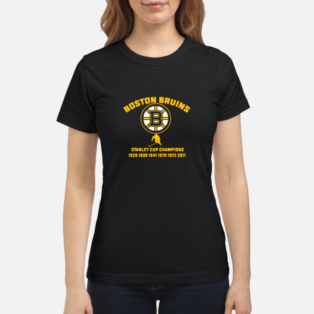 Boston Bruins stanley cup 1929 1939 1941 shirt ladies tee
