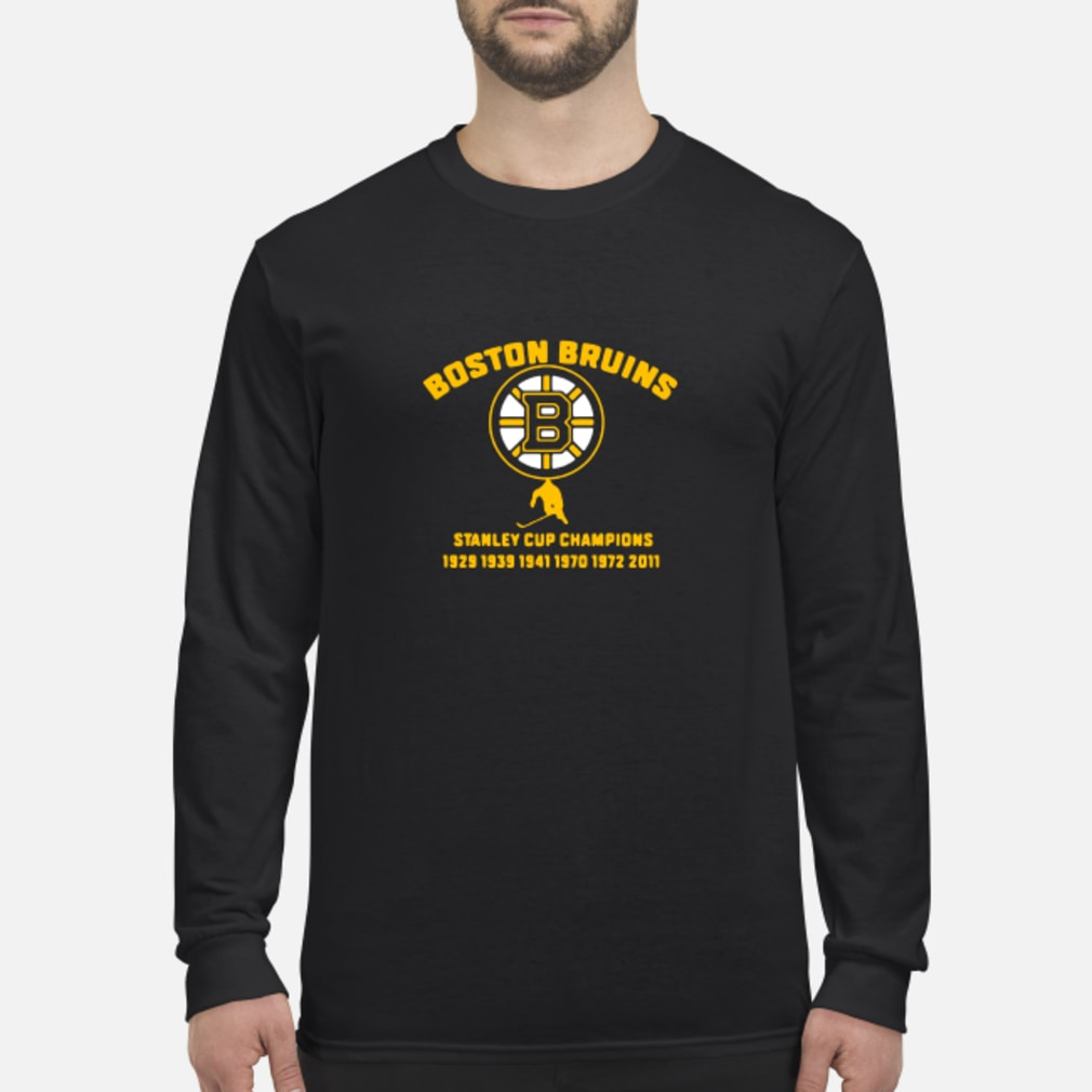 Boston Bruins stanley cup 1929 1939 1941 shirt Long sleeved