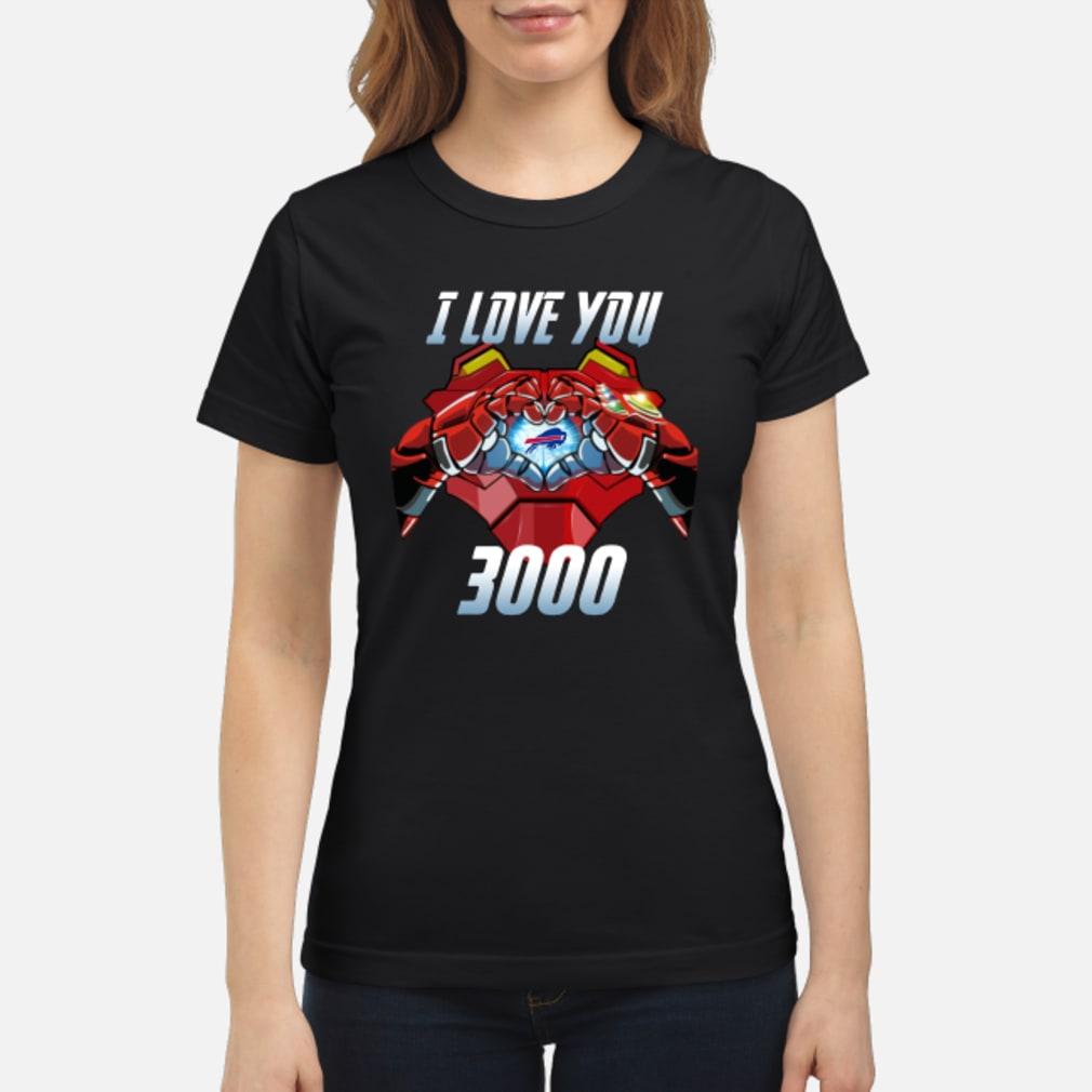 Buffalo Bills I Love You 3000 shirt ladies tee