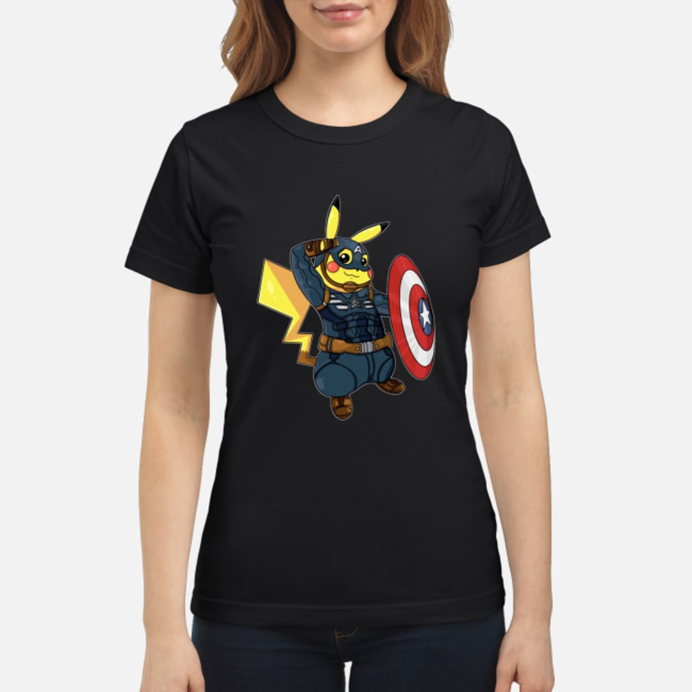 8f2fbed6 Official Captain America Pikachu Marvel Avengers Shirt, hoodie, tank ...