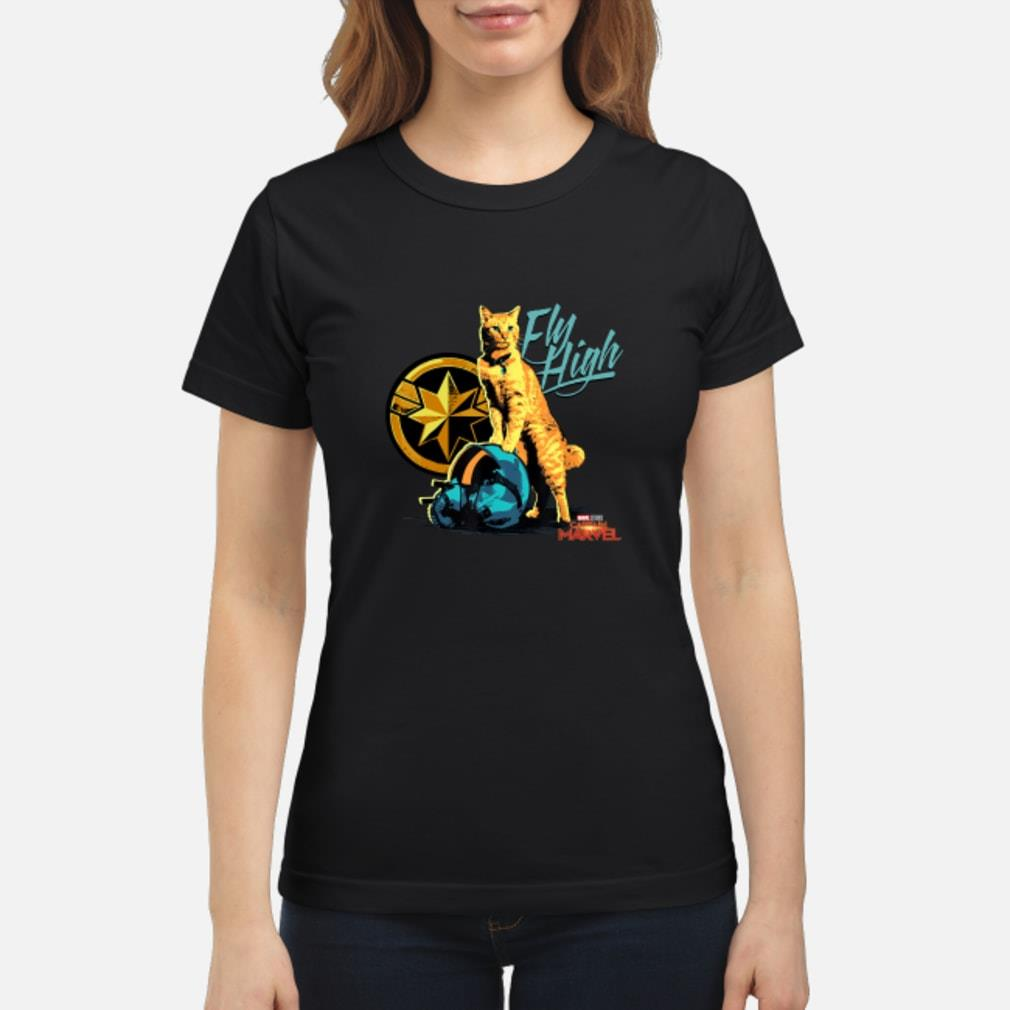Captain Marvel Goose Fly high shirt ladies tee