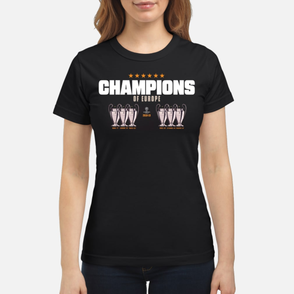 Champion of europe champions league 2019-2019 Liverpool 6th shirt ladies tee