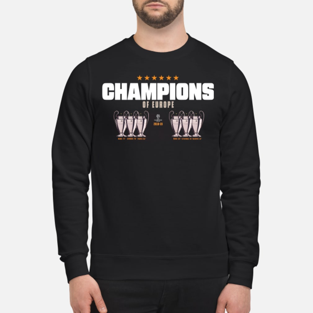 Champion of europe champions league 2019-2019 Liverpool 6th shirt sweater