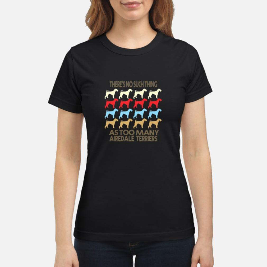 Cool Airedale Terrier Retro Vintage Style  Shirt ladies tee