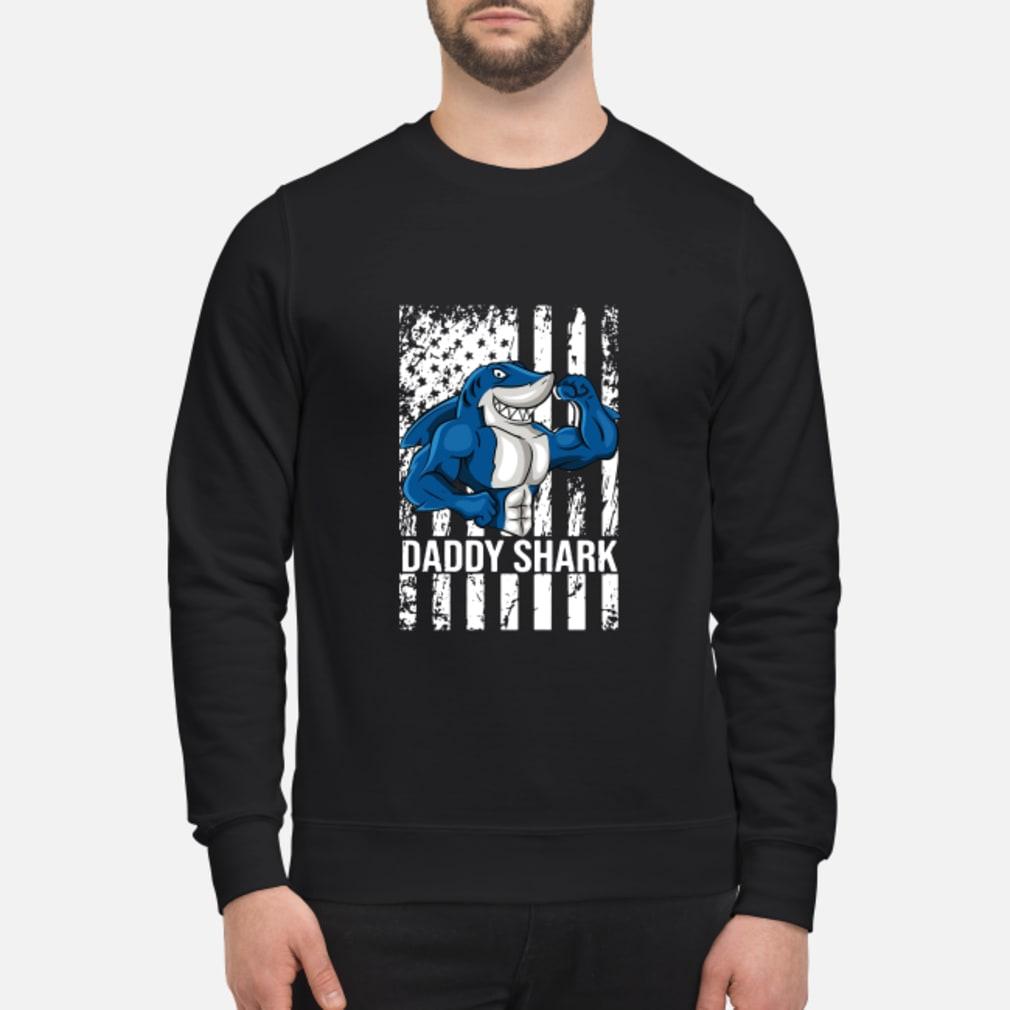 Daddy shark American flag shirt sweater
