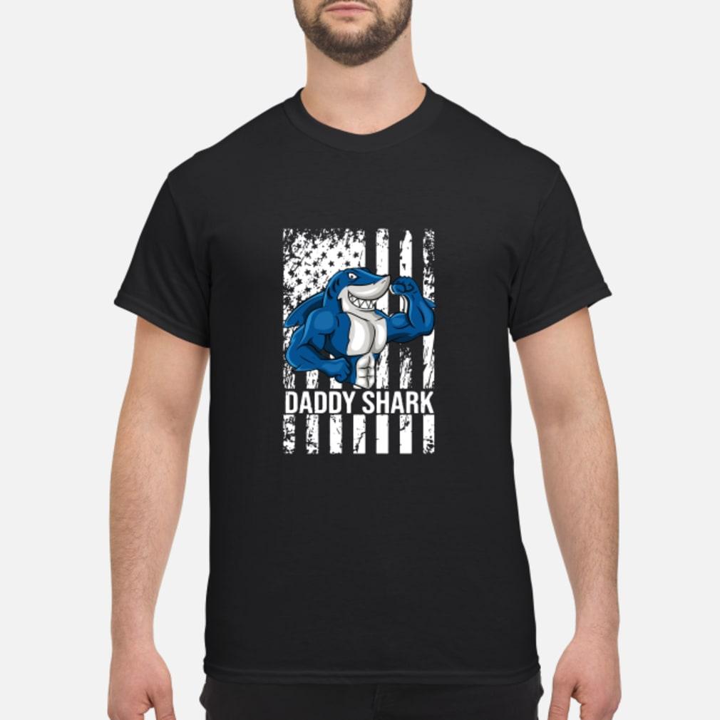 Daddy shark American flag shirt