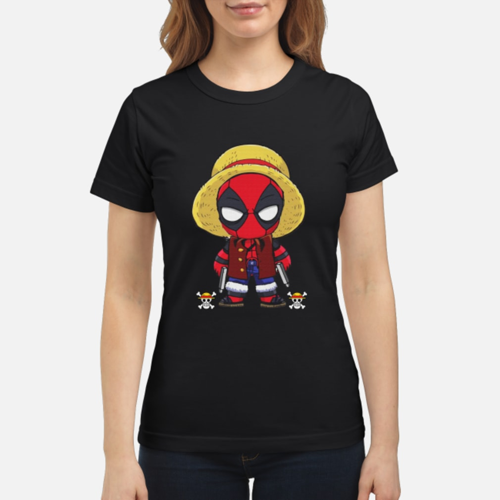 Deadpool Luffy funny One piece shirt ladies tee